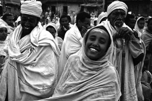 Everybody is happy during the Meskel celebrations