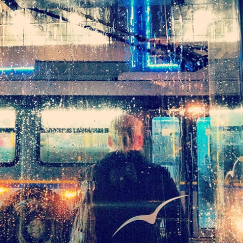 Tuesday morning in the rain Granville Street Vancouver, Canada