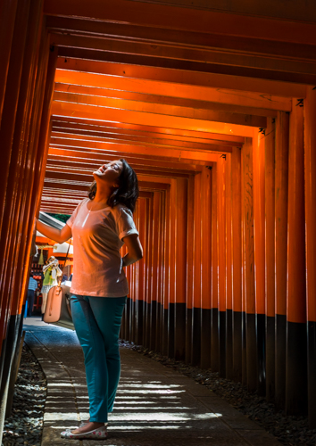 Warmth of the gates Fushimi Inari, Japan