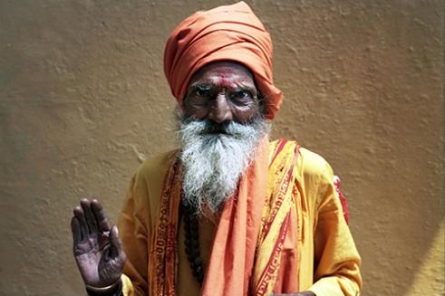Holy man Varanasi