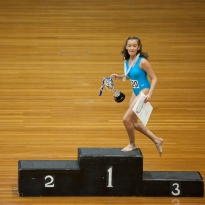 Olivia wins the 12 year section at Junior Nationals and is overcome with emotion as she takes her place on the podium.