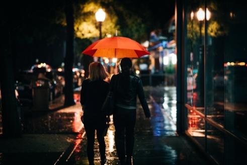 Rainy Nights in Downtown Sacramento California