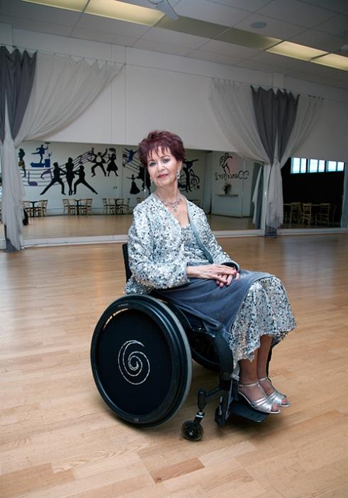 Barbara in her Dance Studio.