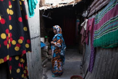 Informal settlements Dhaka, Bangladesh