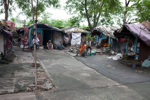 Bilaspur Leprosy Community, Bilaspur ,India, Aug 2014