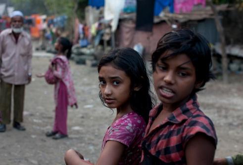 Girl and Brother Informal settlements Gazipur, Dhaka, Bangladesh
