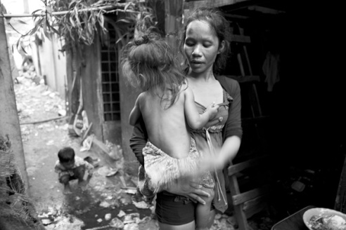 Sex worker and child Cambodia