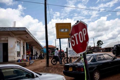 "Streetscene in Mubende where the ""Women Won't Wait"" centre is based."