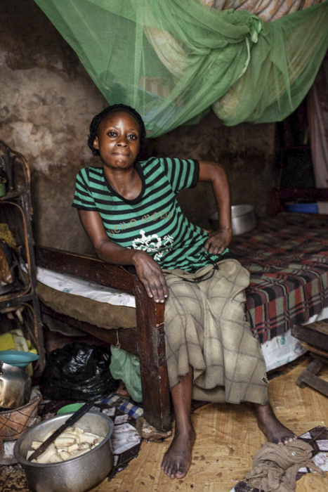 Rose Kabasinjuzi (23) Bwaise, Kampala. Rose has a daughter called Diana. Rose turned to sex work to give Diana an education. She has been on the receiving end of brutal violence against her many times. She is a beneficiary and campaigner for Tusitukirewamu Women's Group in Bwaise