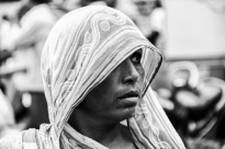 Strong woman face Ahmedabad, Gujarat, India