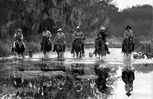 A group of Cowhunters on search of Hairy Dick Bulls, a term for the wild cows in the bush that are related to the cows that Ponce De Leon brought from Spain in 1521.