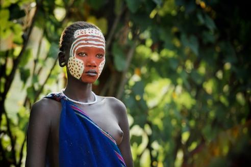 Painted Suri Girl Kibish