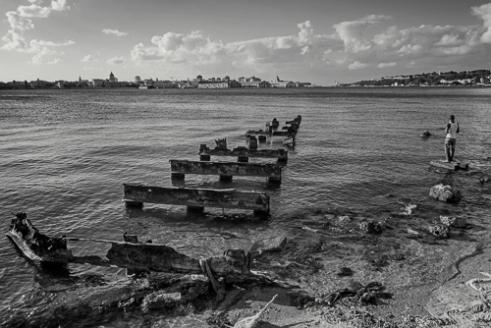 Fishing Next to the Broken Pier, Regla, Havana