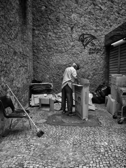 Old street worker