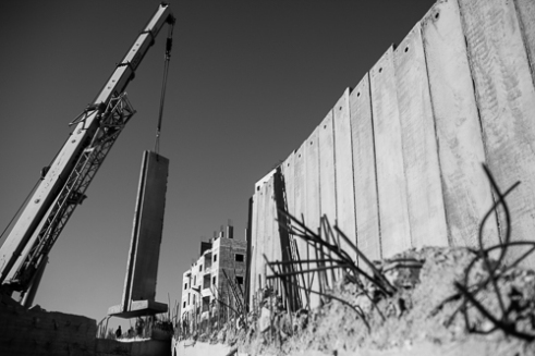 The last part of the wall between Jerusalem and 'Shoafat' Refugee Camp.