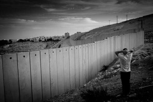 The fence at 'Ha-Zaim' checkpoint at East Jerusalem.