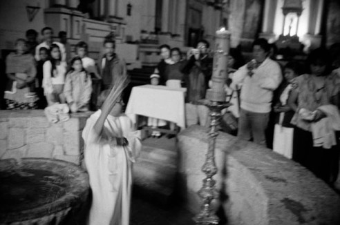 christening in churchTepoztlan,