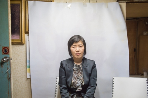Mrs. Kim, 2015 I visited neighbors to make photographs they needed. The photographs for their practical use are not only the evidence of my exchange with them but also the motivation for my attempt to involve such photos in the discourse of the art world.