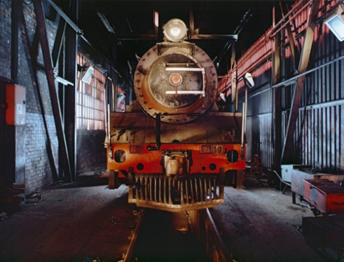 Abandoned steam locomotive. Voorbaai railway depot. Mossel Bay. South Africa. 2o03.