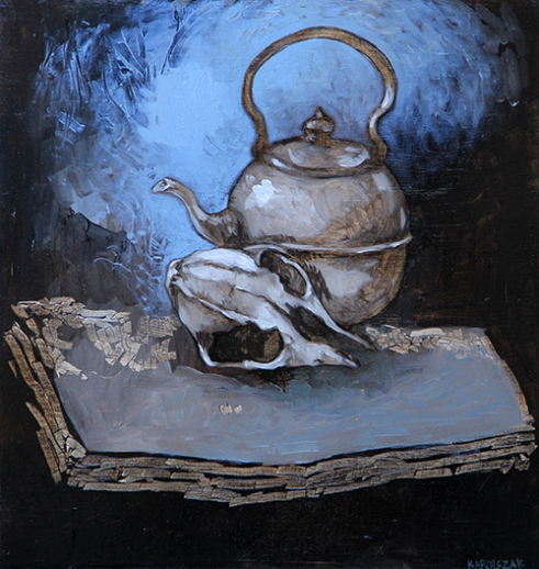 Still Life with Teapot Oil on panel
