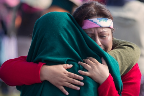 A time for reconciliation during the Holly Mass near Polotitlan State of Mexico.