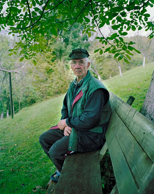 A former mine worker in his old work cap, Rosia Montana