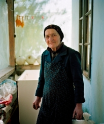 A former worker from the mine chemical facility in her home in Rosia Montana