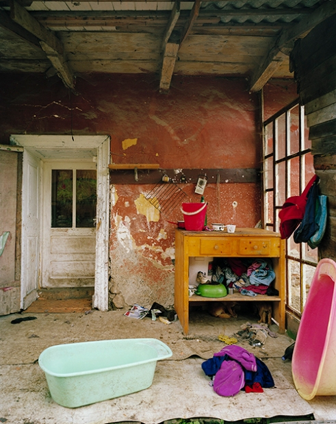 Porch of a Roma family house, Rosia Montana