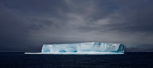 Blue Tabular Iceberg Antarctic Sound Antartic February 2010