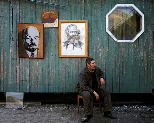 Misha is a man who signed a two-year contract with no holidays, far away from his family, because there had been no work available at home for years, and because his daughter had recently become ill and needed expensive medical care. Pyramiden, Spitsbergen