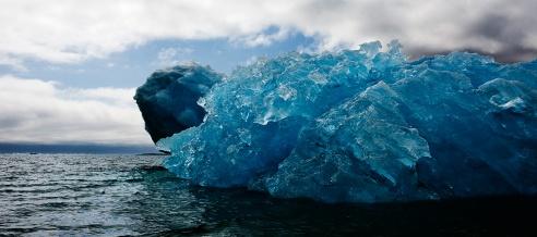 Overturned Iceberg Qassiarsuk Southern Greenland August 2008