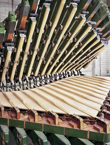 SteinwayModel D Soundboard Bridge Press