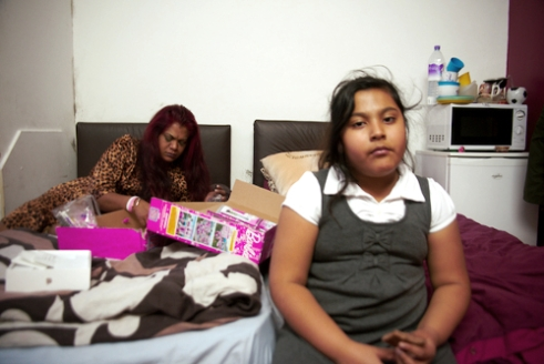 Linda and her daughter were given a room in a B&B in Southall. This is miles away from her school.