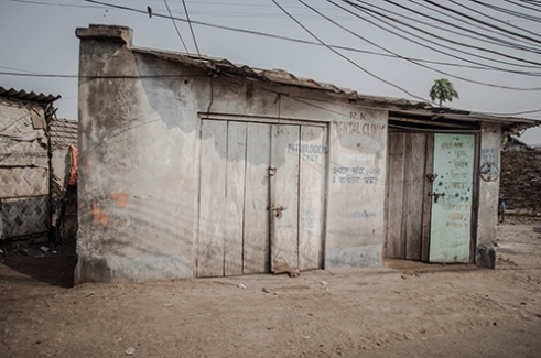 Very little infrastructural development has taken place over the years with almost no medical clinics and rarely health camps performed perfunctorily. Calcutta, India.