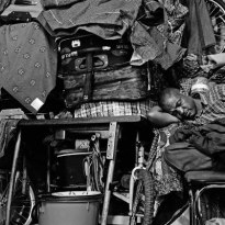 Seko, Sleeps amongst gifts and supplies on route to Malawi,Wineloop Flats