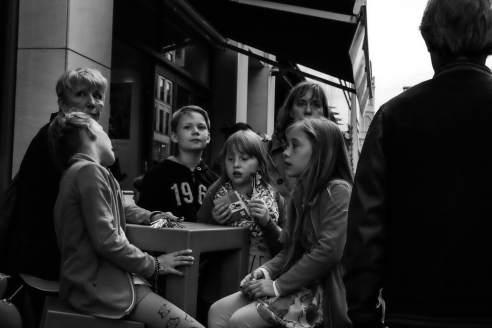 Kids eating chocolate in Berlin