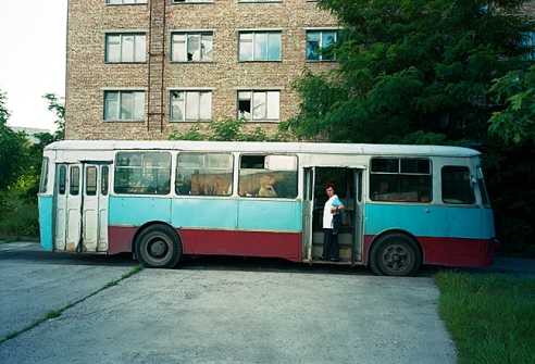Workers bused in to operate laundry Pripyat