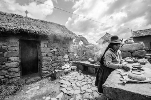Traditional Farm kitchen Puno Region, Peru