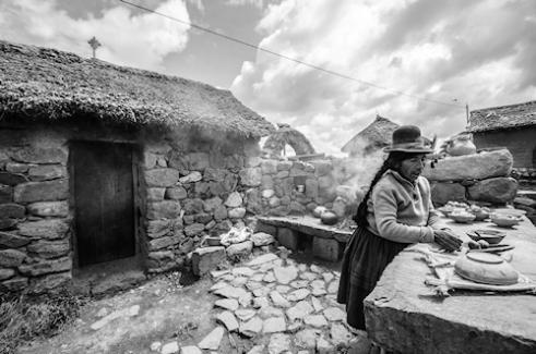 Traditional Farm kitchen Puno Region, Peru