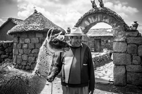 Traditional farmer Puno Region, Peru