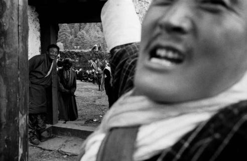 Ceremonial battle dances Tang Valley, Bhutan