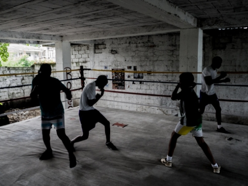 Deibis, Kenneth, Maicol and Jhorbin in the Ring