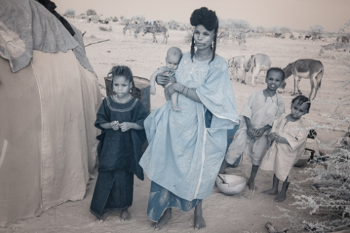 Wodaabe woman in camp
