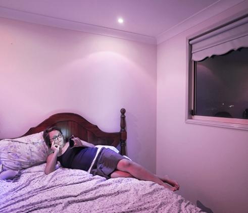 Gaia (31, Italy/Usa) in her room. Sydney, Australia