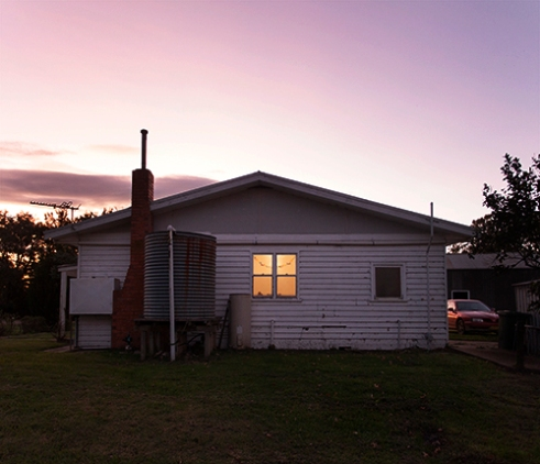 View of a typical Australian Cottage. Maffra