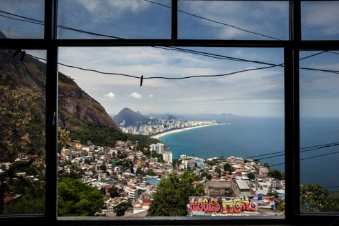 The view from James house Favela Vidigal