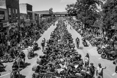 Monday August 3, over 96,000 motorcycles entered main street Sturgis for the 75th Annual Rally.