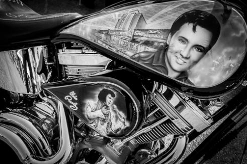 Harley-Davidson motorcycles are all about creating your own personal statement. Thousands of bikes, not one the same. A personalized Harley for the KING...Elvis of course.