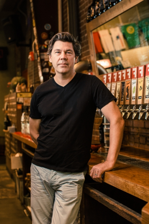 Durham, North Carolina - Thursday August 18, 2016 -Sean Lilly Wilson is the owner of Fullsteam Brewery in Durham, North Carolina and a key player in the Pop The Cap legislation.
