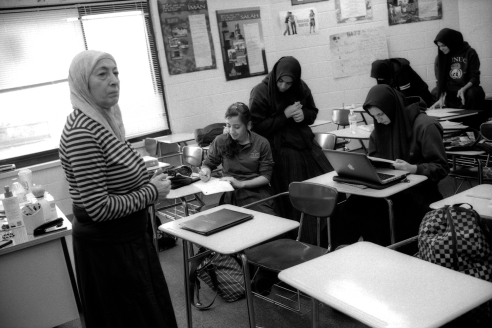 Young Women in Class, Aqsa School, Bridgeview, IL 2012